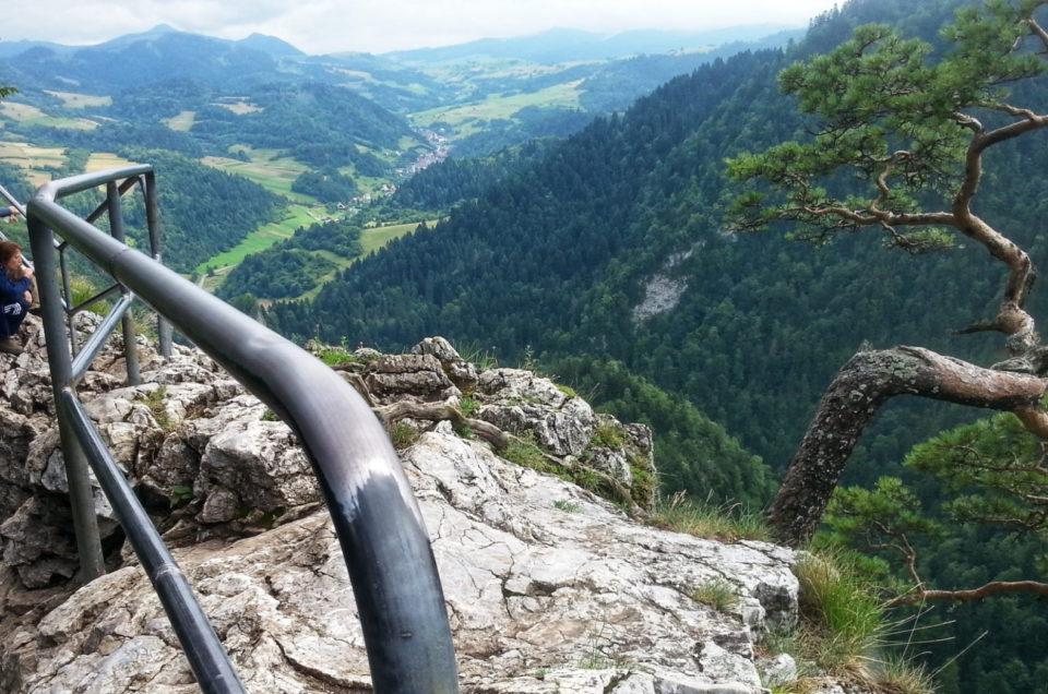 Wejście na Pienińską Sokolicę od strony Dunajca