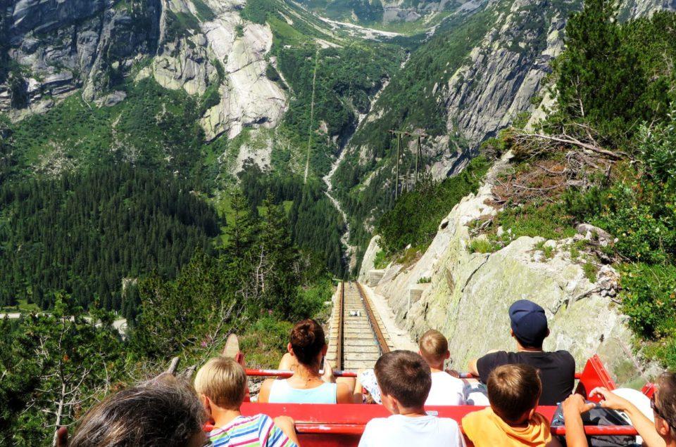 Zjazd Gelmerbahn z odrobiną adrenaliny